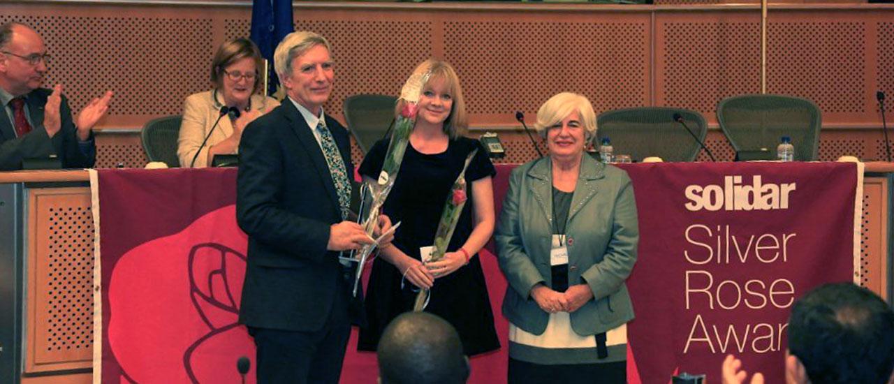 La organización guatemalteca CALDH recibe el premio Silver Rose 2013