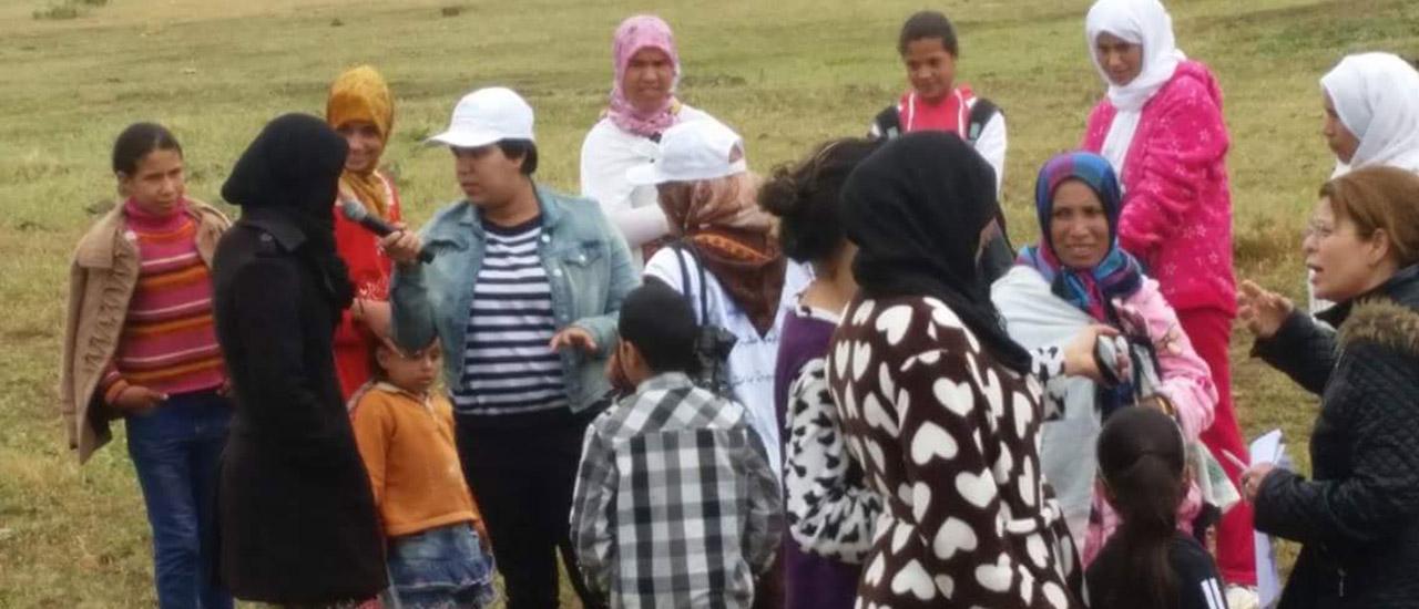 Caravana de sensibilización en Larache (Marruecos)