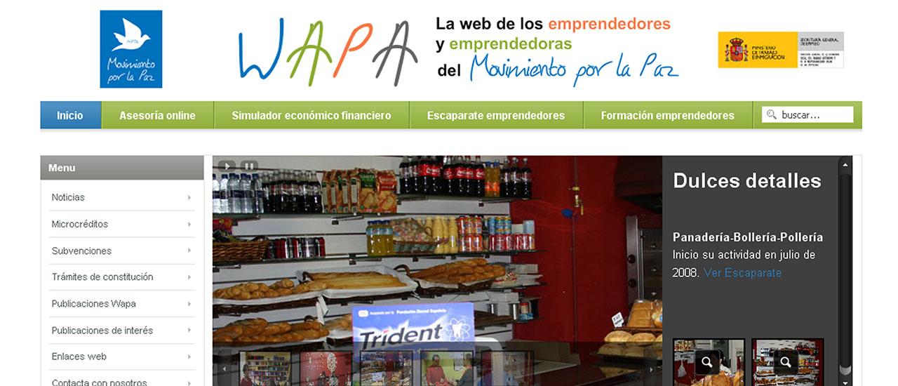 La web de autoempleo del Movimiento por la Paz -WAPA- cierra temporalmente para actualizar su diseño y contenidos