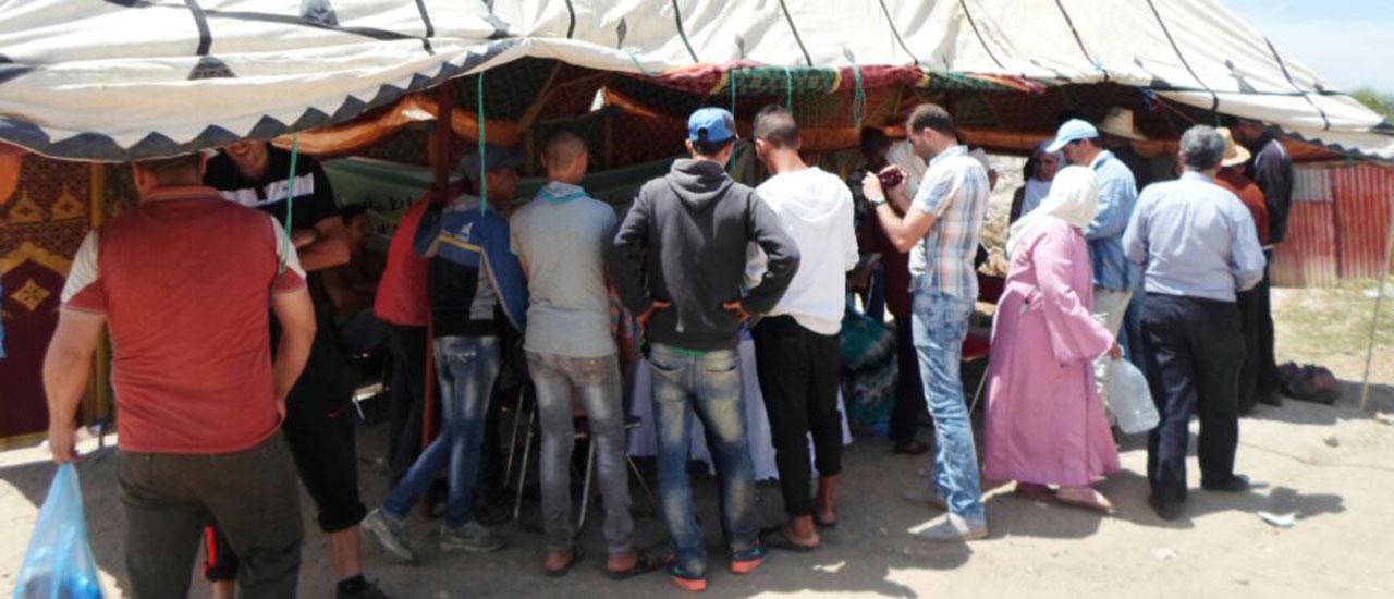 Caravana de sensibilización en la comuna rural de Boujdiane para fomentar la participación juvenil en Marruecos