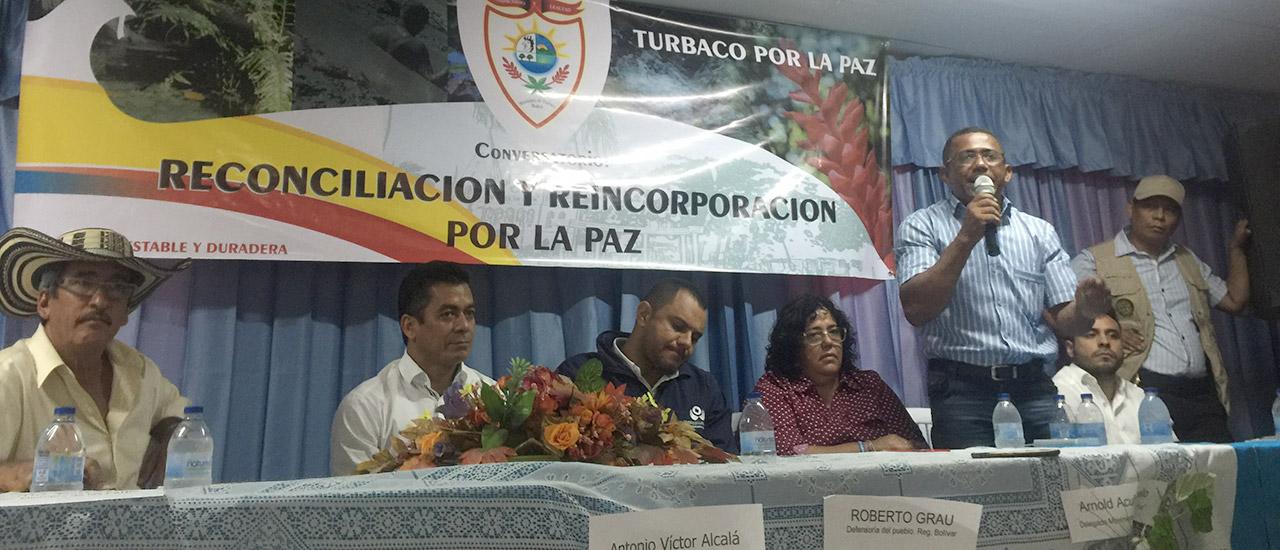 Conversatorio de reconciliación y reincorporación para la Paz en Colombia