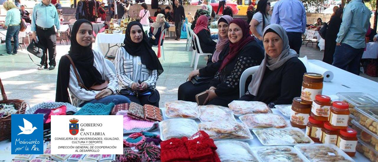 Mercado de productos locales de las cooperativas de mujeres de Cisjordania