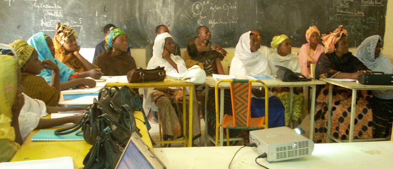 Sesión de formación a mujeres en Níger