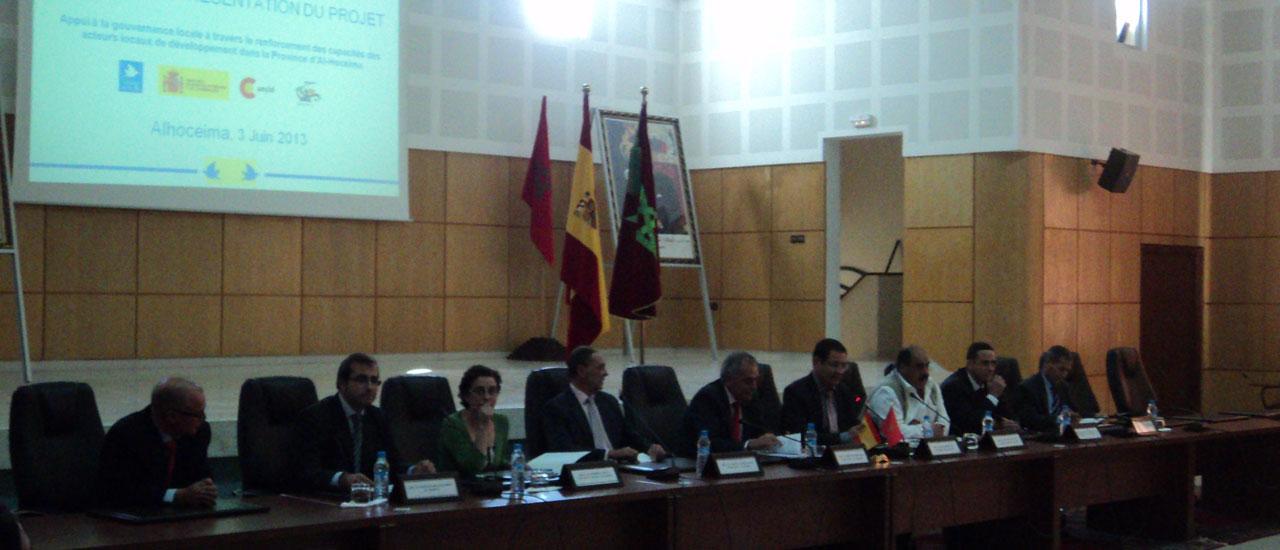 Lanzamiento de proyecto de fortalecimiento democrático en Alhucemas