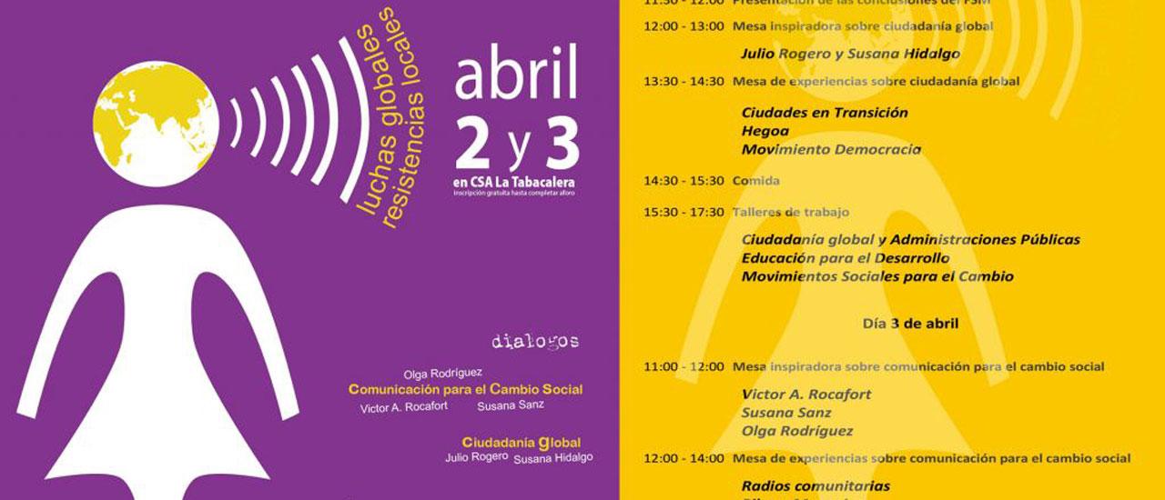 """Participa: encuentro """"Ciudadanía global al poder"""""""