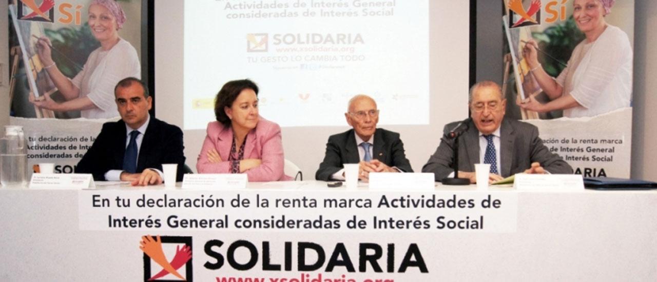 """Más de 6 millones de personas se benefician de la """"X Solidaria"""""""