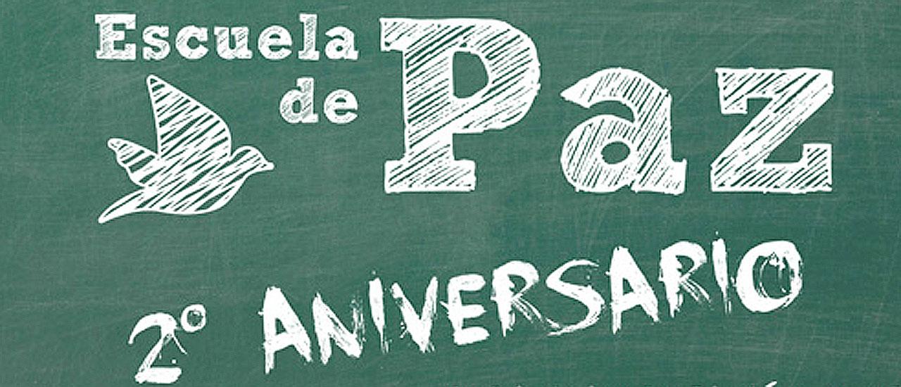 Celebramos el 2º Aniversario de la Escuela de Paz estrenando nuestra BiblioPaz