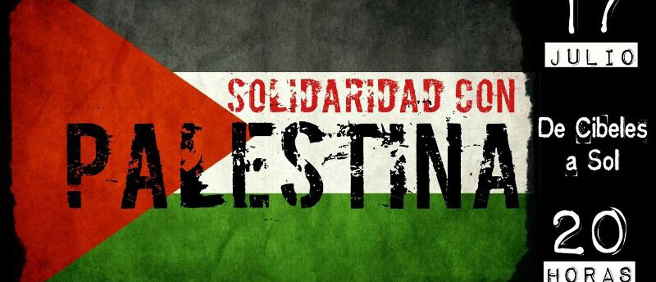 Manifestación en solidaridad con Palestina hoy en Madrid