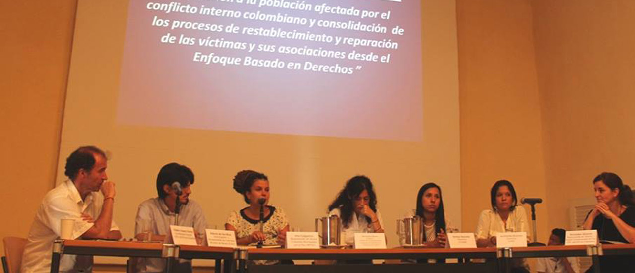 Acto de cierre del convenio de apoyo a víctimas en Colombia