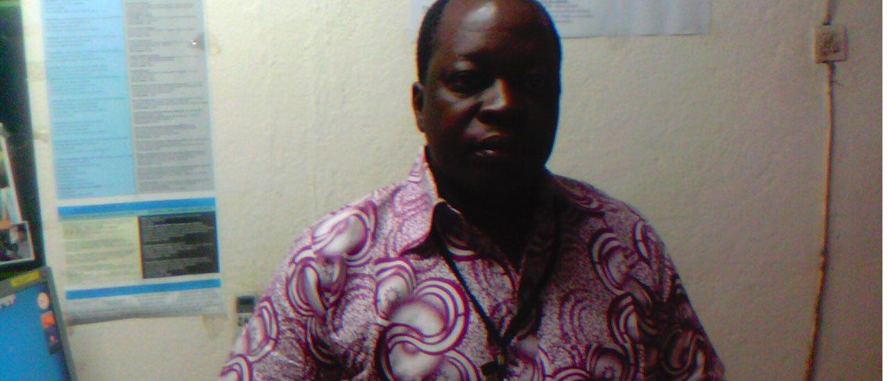 Siaka Traoré, coordinador de la ONG maliense Sini Sanuman