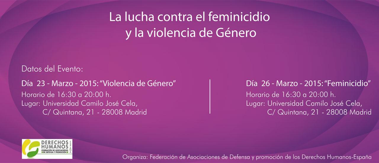 """Encuentro """"La lucha contra el feminicidio y la violencia de Género"""""""