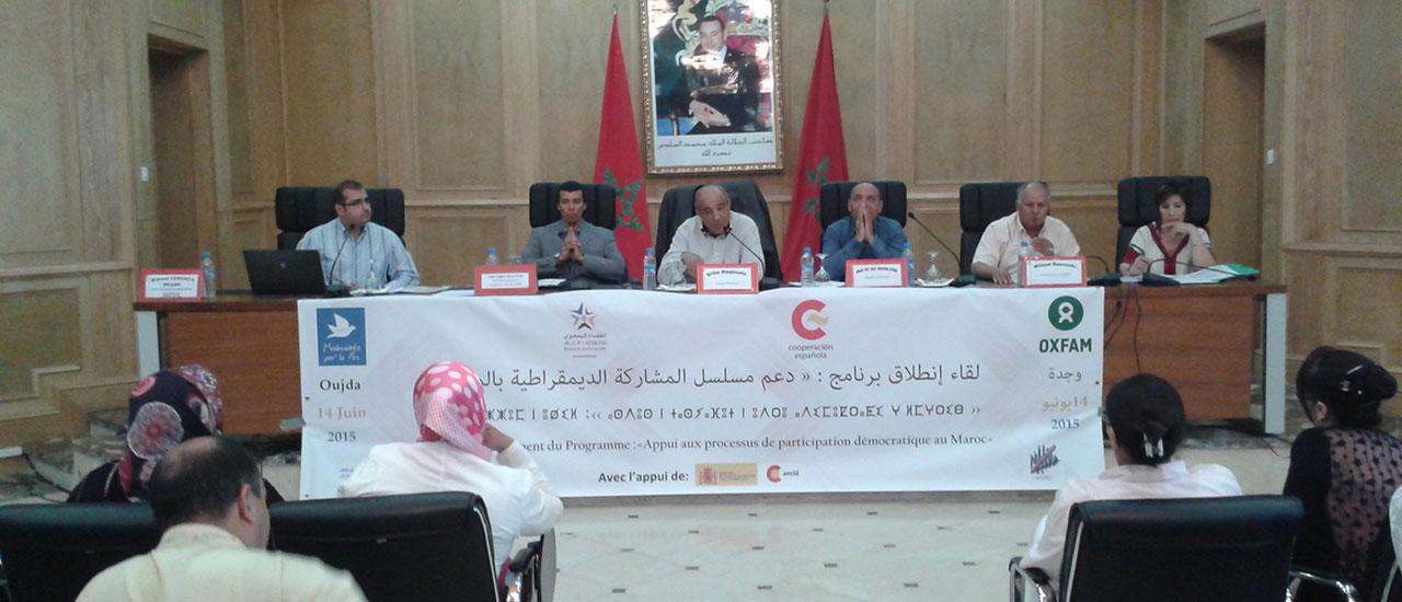 Seminarios de lanzamiento del Convenio en Marruecos con Oxfam Intermón y Espace Associatif