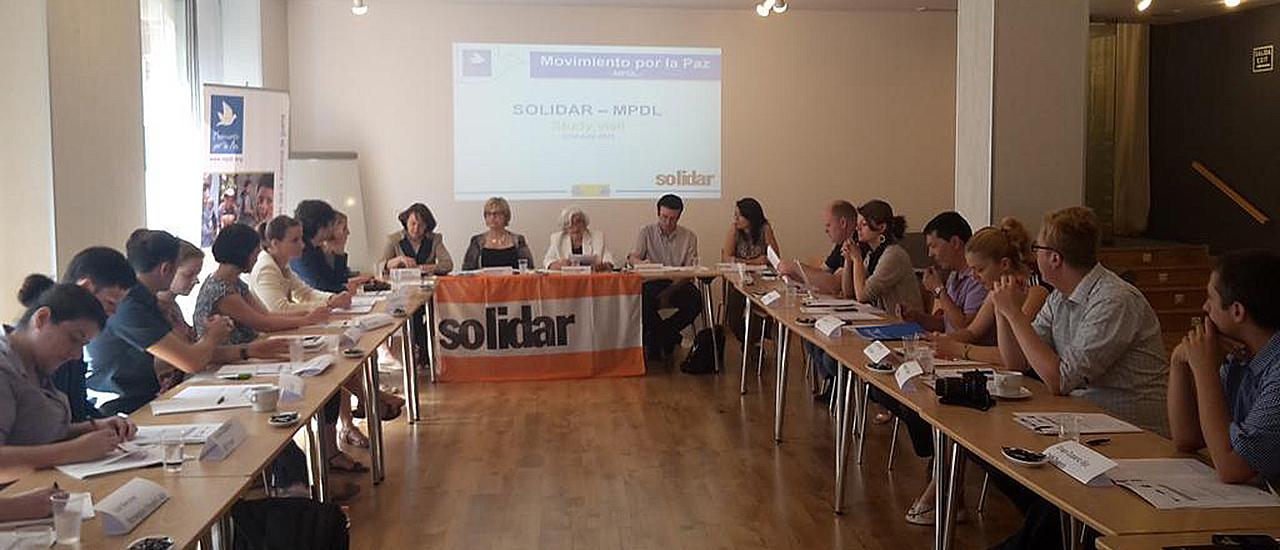 Visita de SOLIDAR al Movimiento por la Paz