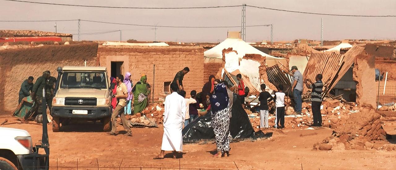 Inundaciones en el Sahara provocan una crisis humanitaria entre la población refugiada saharaui