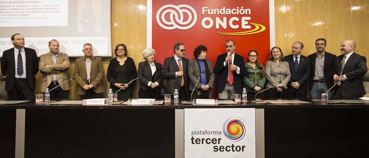 Luciano Poyato es reelegido presidente de la Plataforma del Tercer Sector