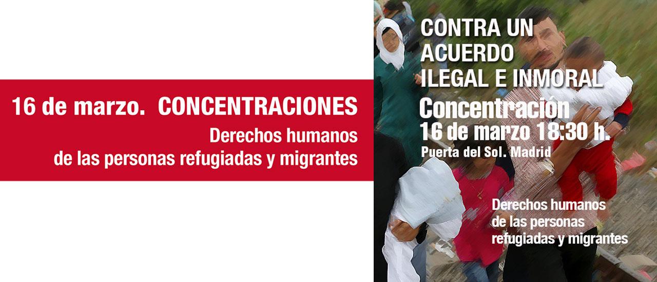 Un acuerdo ilegal e inmoral que atenta contra los derechos humanos de las personas refugiadas y migrantes