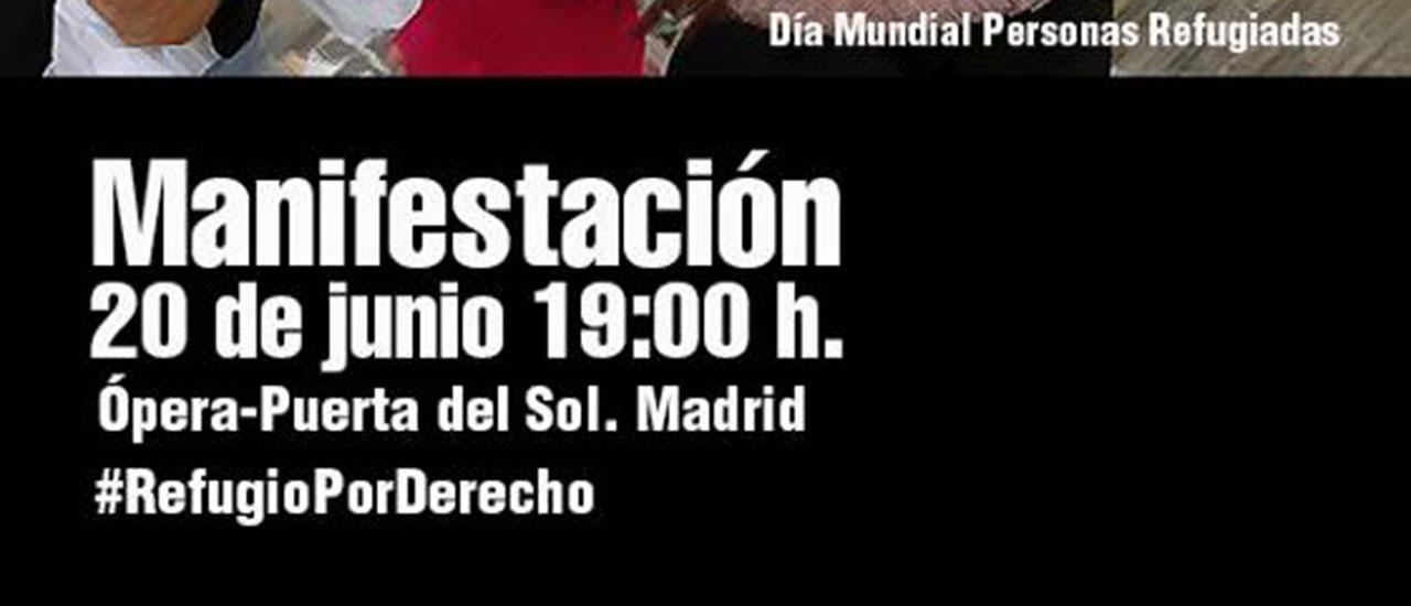 Madrid saldrá a la calle el 20J, Día Mundial de las  Personas Refugiadas, para exigir sus derechos y unas vías legales y seguras