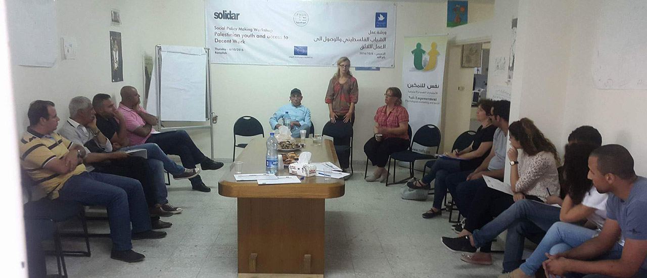 Project leads the way in analyzing the challenges for youth access to Decent Work in Palestine