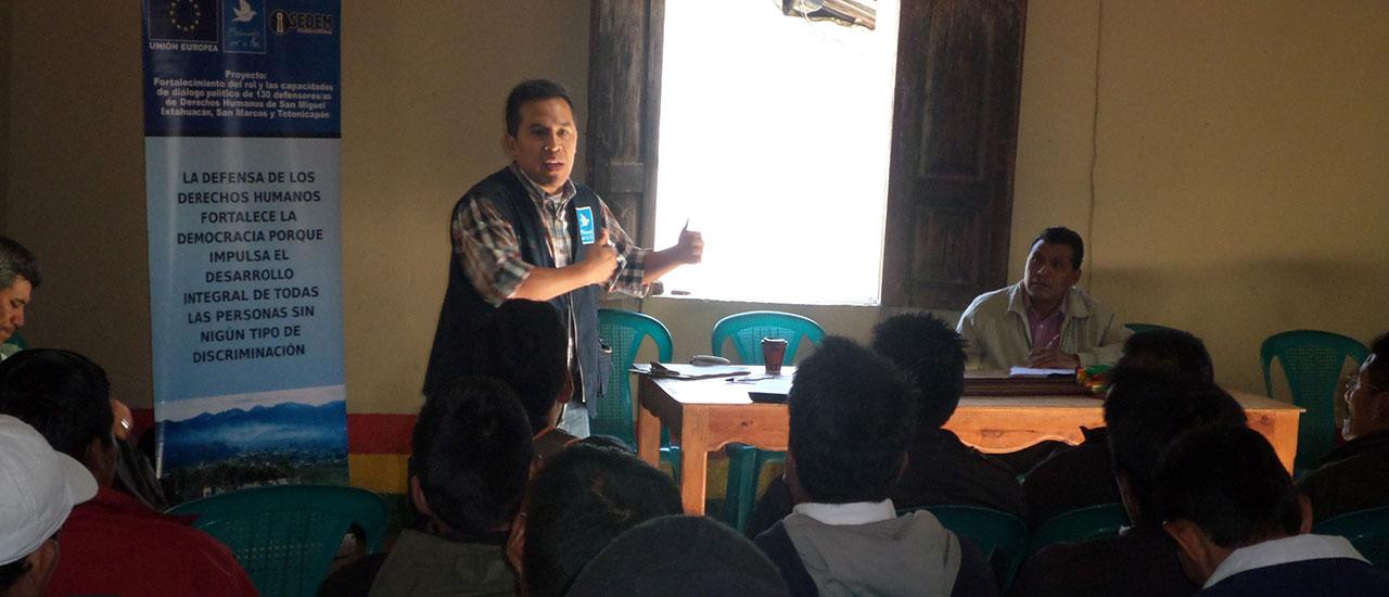 Fortalecemos la labor de las personas defensoras de Derechos Humanos en Guatemala