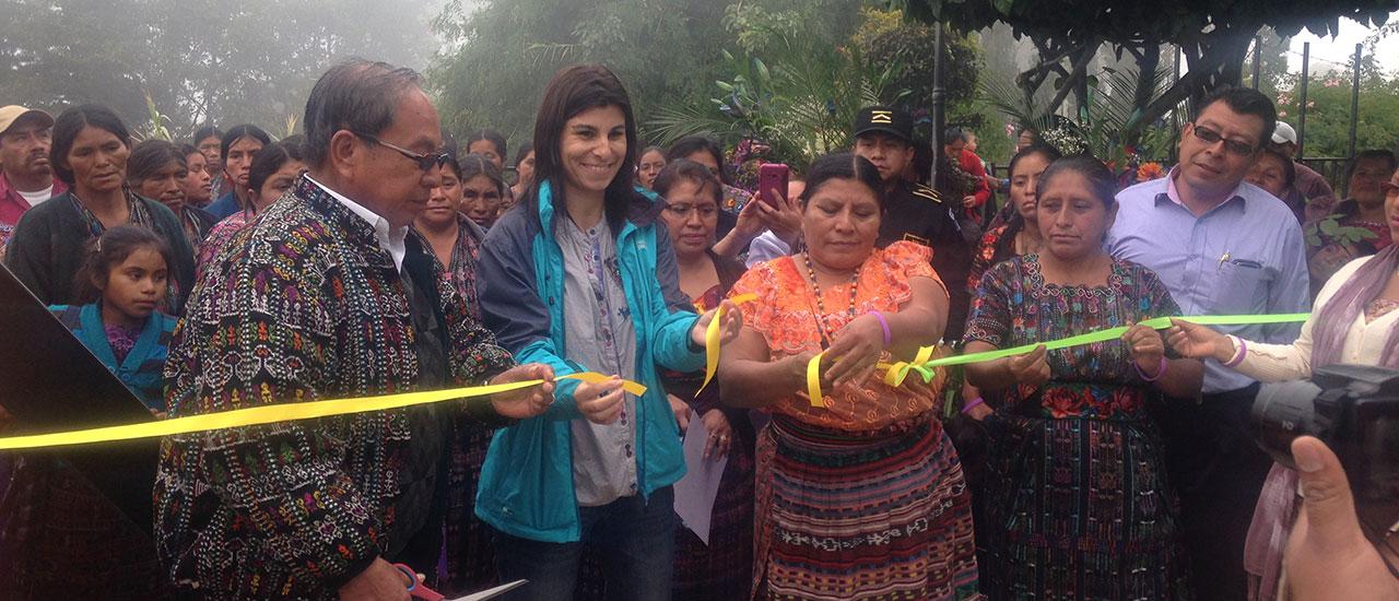 Inauguración Espacio Público Seguro - proyecto Municipios Libres de Violencia (Sololá, Guatemala)