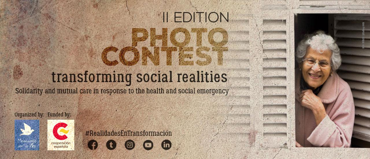 """Concurso de fotografía """"Realidades en Transformación"""": la solidaridad y los cuidados frente a la emergencia sanitaria y social"""