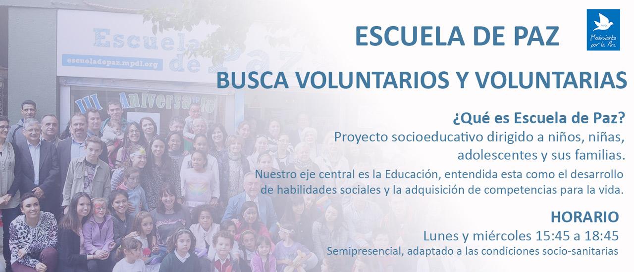 Oferta de voluntariado - Escuela de Paz