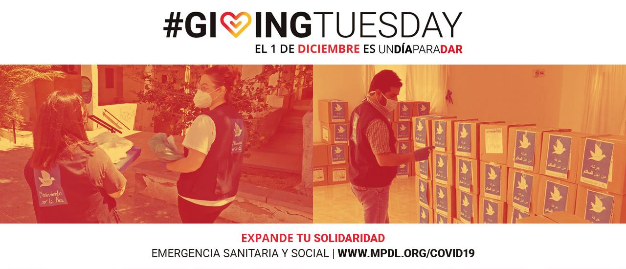 Súmate al Giving Tuesday y apoya nuestra campaña de emergencia COVID-19