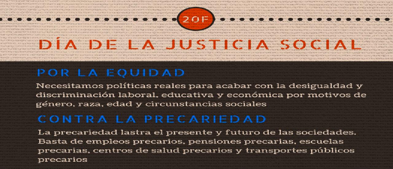 La necesidad de reivindicar justicia social
