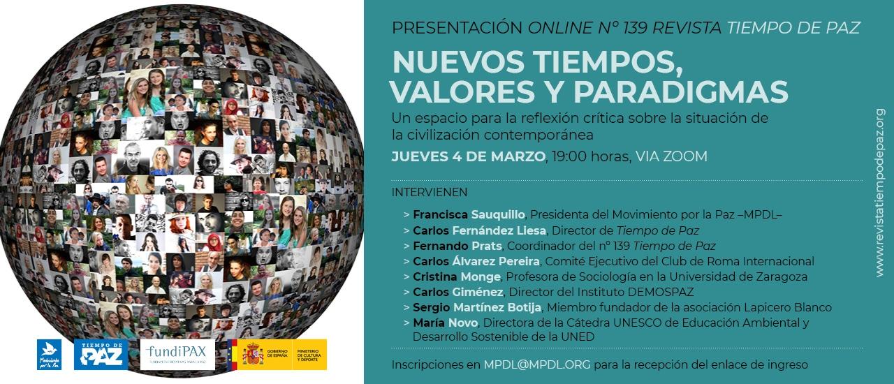Presentación online: Nuevos tiempos, valores y paradigmas