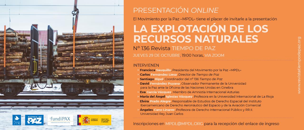 Presentación online: La explotación de los recursos naturales
